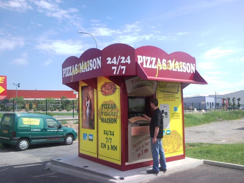 Distributeur de la pizzeria tagliatelle sorbiers for Restaurant la talaudiere
