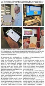 Ouest France juin 2015 - Fonctionnement PIZZADOOR