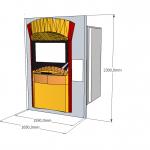 PIZZADOOR DROITE Ext - Fixation facade exterieure 2300 mm