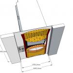 PIZZADOOR GAUCHE Int - Fixation facade interieur 2