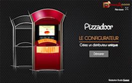 Configurateur de couleur distributeur de pizza