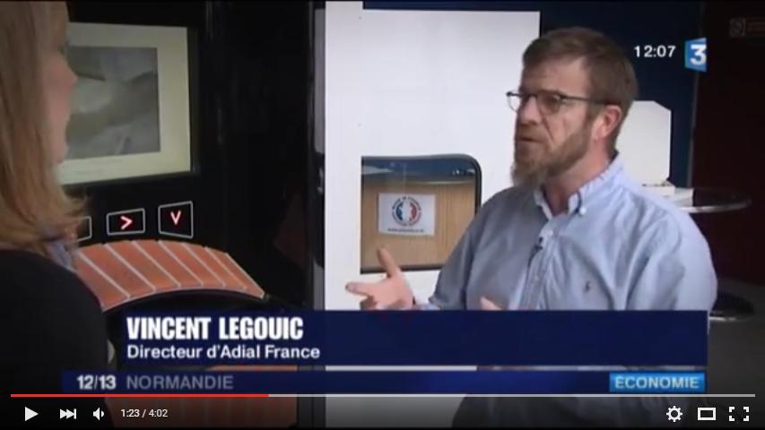 Reportage de France 3 Normandie sur le développement Société ADIAL