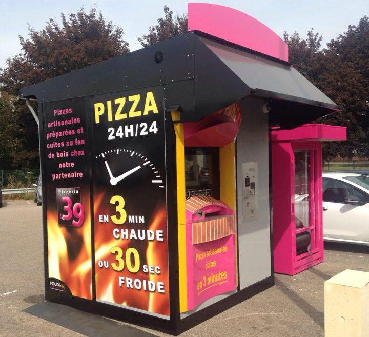 Distributeur FoodH24 / Pizzéria le 39 à Marly (57)