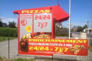 """Kiosque automatique """"Au Feu de Hêtre"""" à Saint Pair sur mer (50)"""