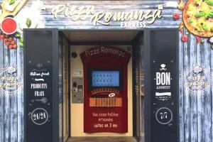 """Distributeur """"Pizza Romanza"""" de pizza 24/24 à Beaucaire"""