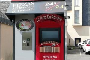Un distributeur automatique de pizzas à la Pizzeria du Rouillen