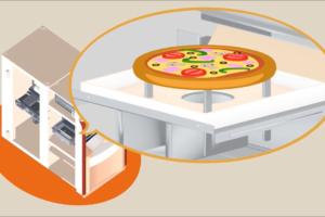Fonctionnement 3D du distributeur PIZZADOOR