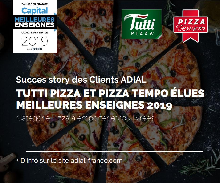 Tempo et Tutti Pizza reconnues meilleures enseignes en France 2019