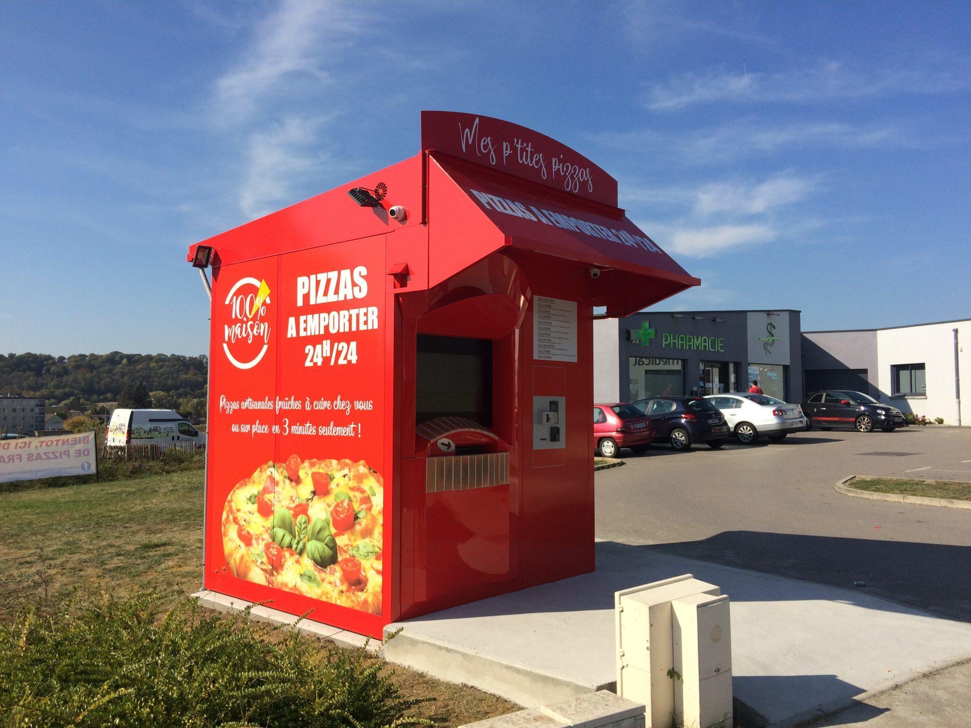 Mes P'tites Pizzas installe son 3ème distributeur à Sérifontaine (60) !