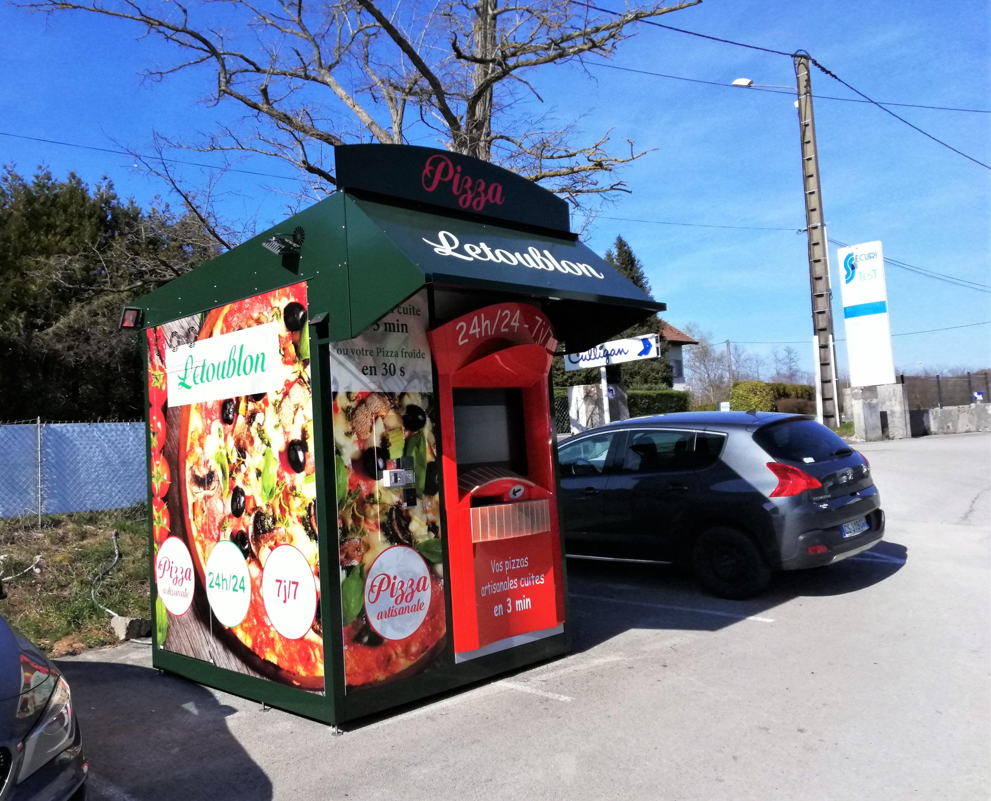 Distributeur automatique de pizza pizzadoor by adial Le toublon Bourgogne franche conté 2019