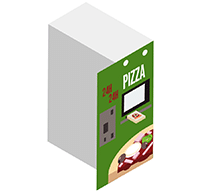 Exemples d'implantations Distributeur de pizza adial