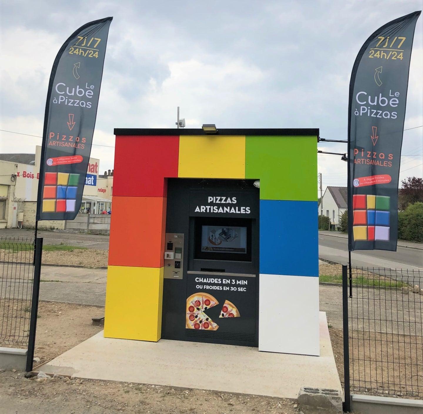 distributeur automatique de pizzas cube à pizza 2019 Pizzadoor adial