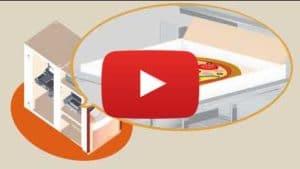 Présentation 3d d'un distributeur automatique de pizza