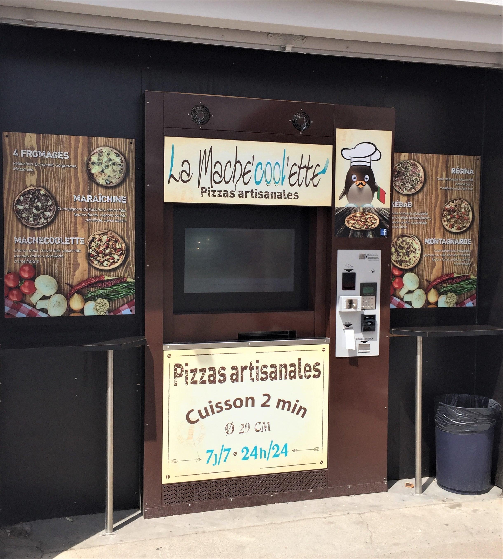 Distributeur automatique de pizza Pizzador by adial. Les pizzaIolos de la machecoolette ouvre une nouveau kiosque à pizzas