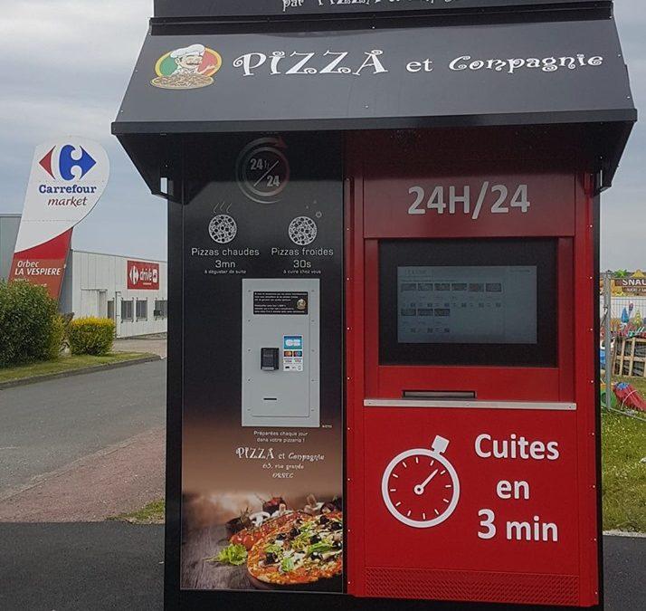 Nouveau distributeur automatique de pizzas en Normandie !