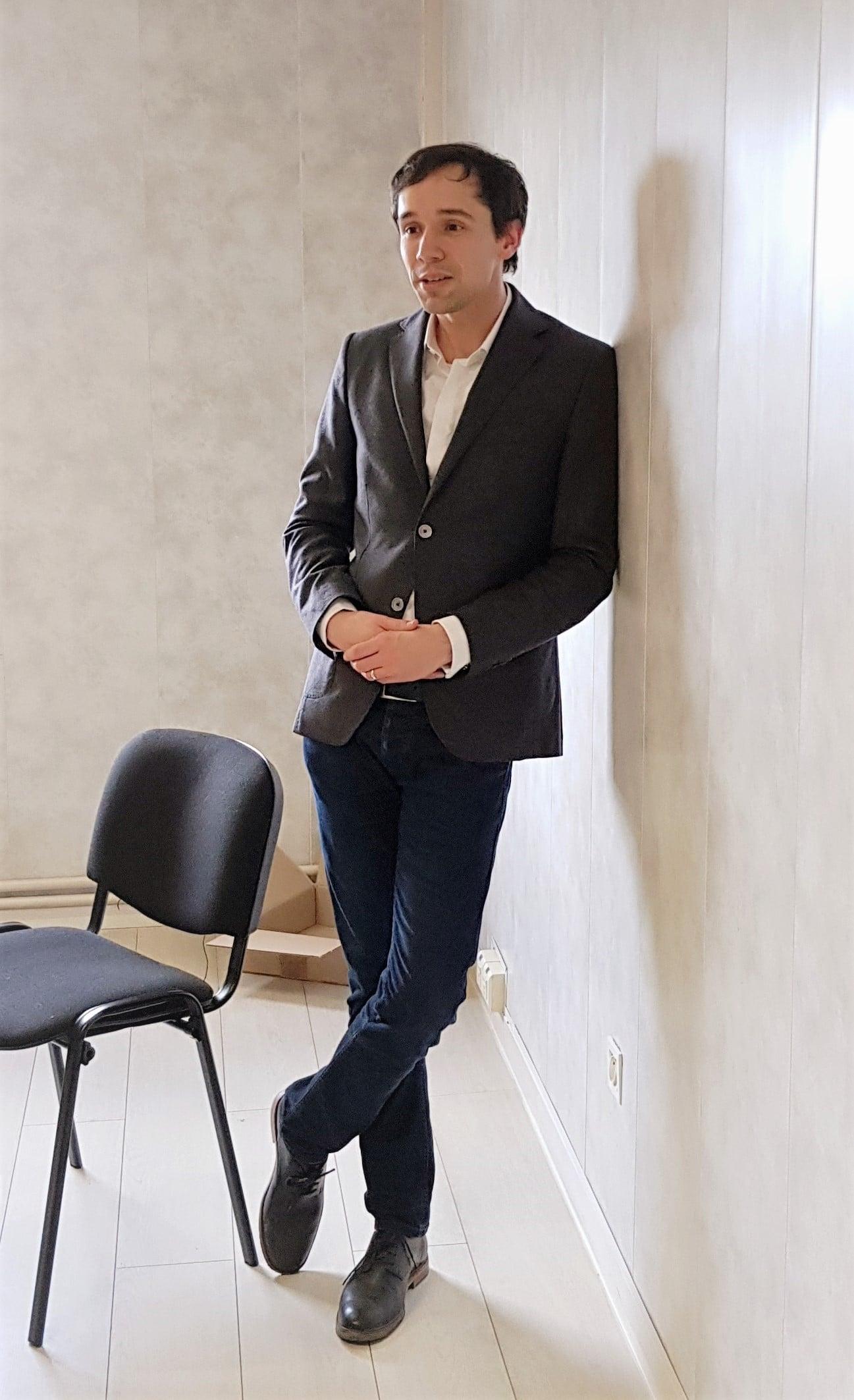 Hervé Bardeau, responsable Recherche et Développement ADIAL, sur le stand Pizzadoor, parizza 2019, Paris.