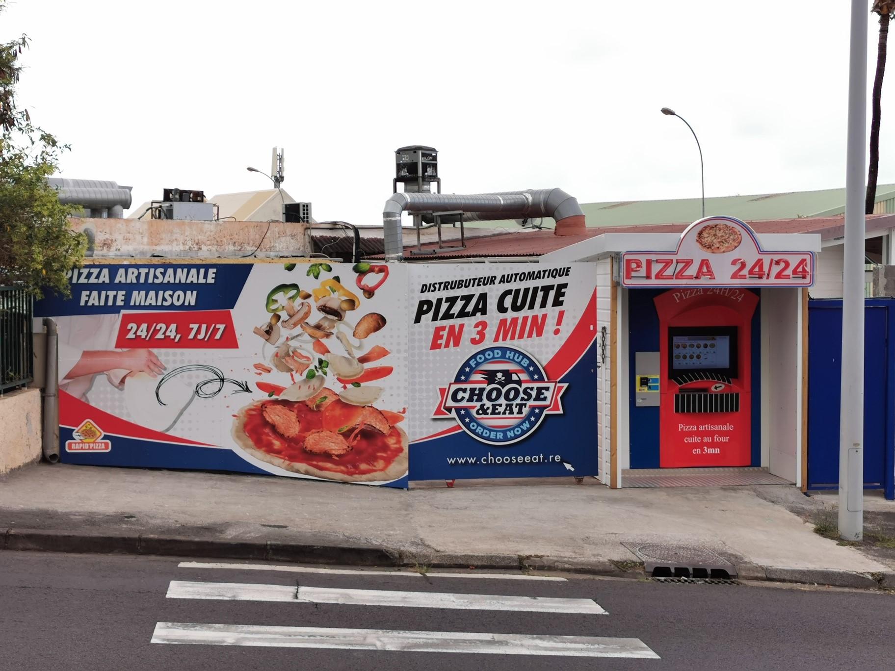 Rapid pizza saint clhotilde ouvre un distributeur de pizzas 24h/24 !