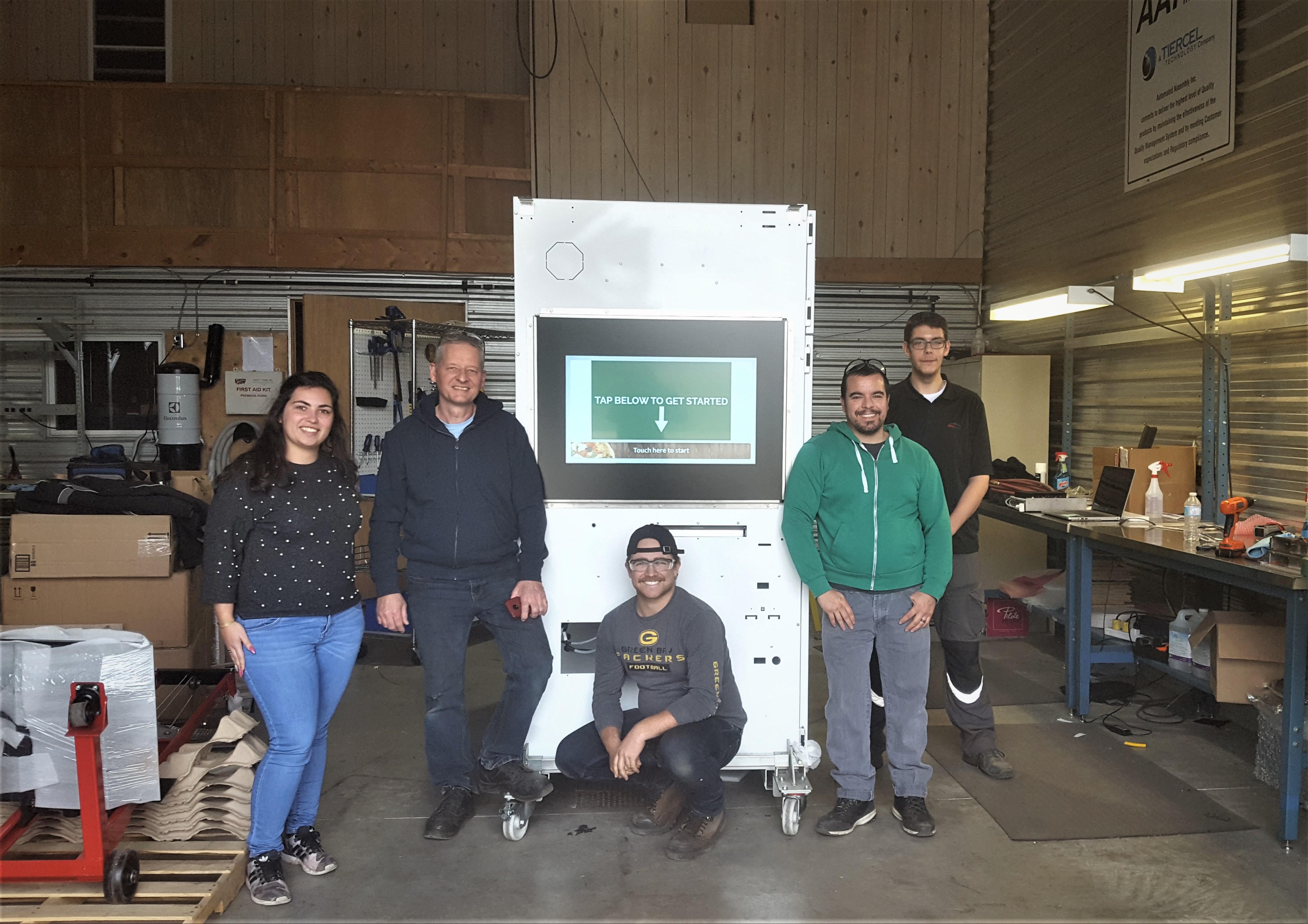 Canadial s'implante en Amérique du Nord - canadial adial equipe distributeur automatique de pizzas 2020