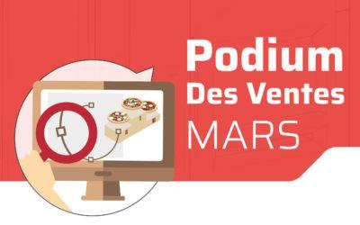 Podium des ventes de Mars 2020 !