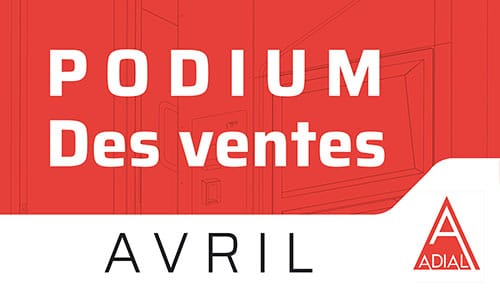 Podium des ventes d'AVRIL 2020 !