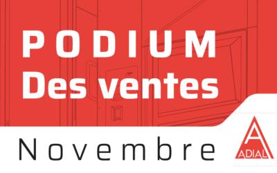 Podium Pizzadoor des ventes de novembre 2020 !