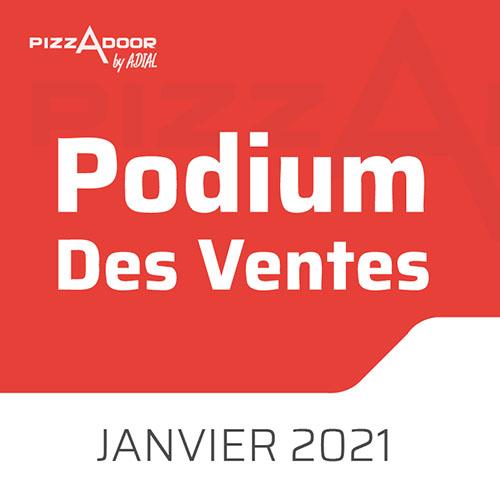 Podium Pizzadoor des ventes de janvier 2021 !